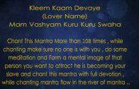 Love Vashikaran Mantra Yantra step 8